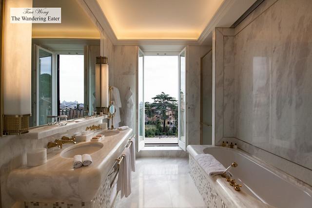 The bathroom of my dreams at Villa Medici Presidential Suite