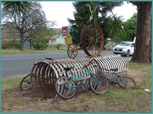victoria australia swanpooltoeildon roadside bicycle bikerack