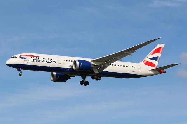 British Airways Boeing 787-9 G-ZBKD