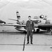Maj. Al Tucker Jr. of the 71st Fighter Squadron stands in front of an F-86 Sabre in the early 1950s. (photo courtesy of Al Tucker Jr.)