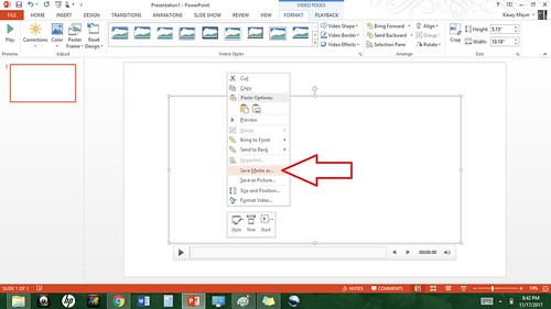 video transfer to powerpoint, save as | by mayer.kasey