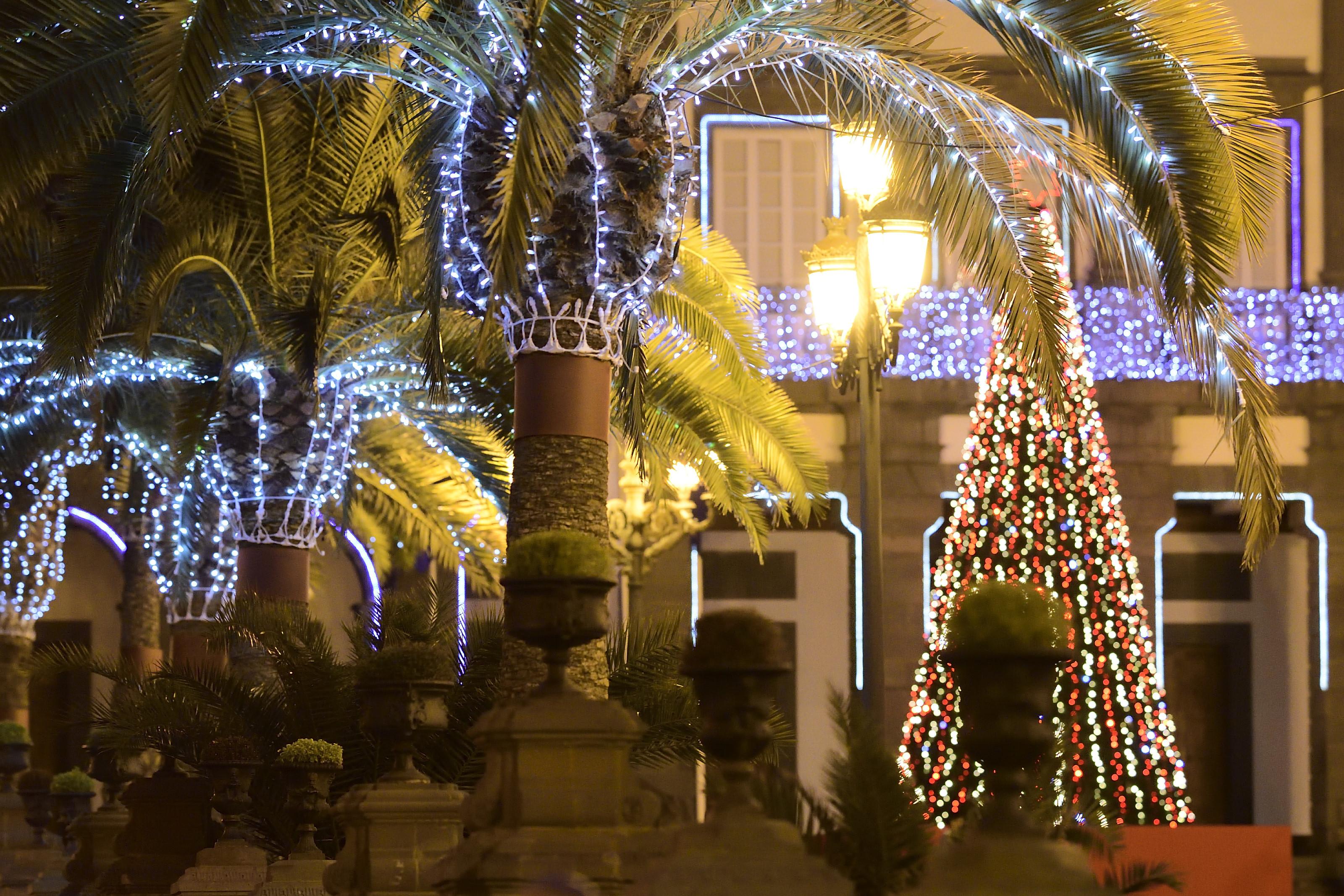 Vegueta, luces de Navidad