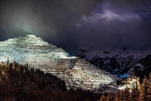 austria eisenerz erzberg hochsteiermark landschaft nacht steiermark styria winter a7ii ilce7ii longexpusure mountain mountainscape night sel2470z snow sony variotessartfe42470 österreich at