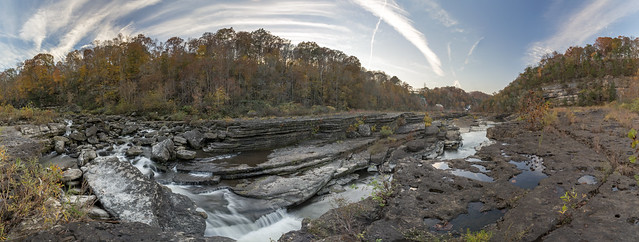 Panorama, Caney Fork River, Rock Island SP, White County, Tennessee