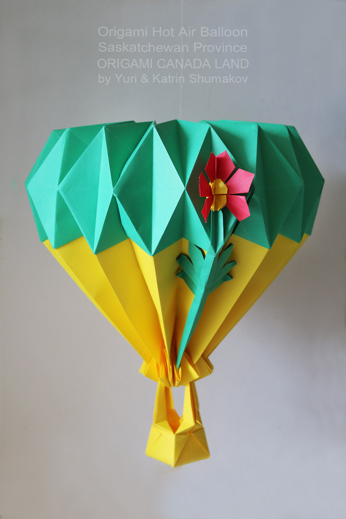 Origami Hot Air Balloon in Spring Skies! | Flying in spring … | Flickr | 1024x683