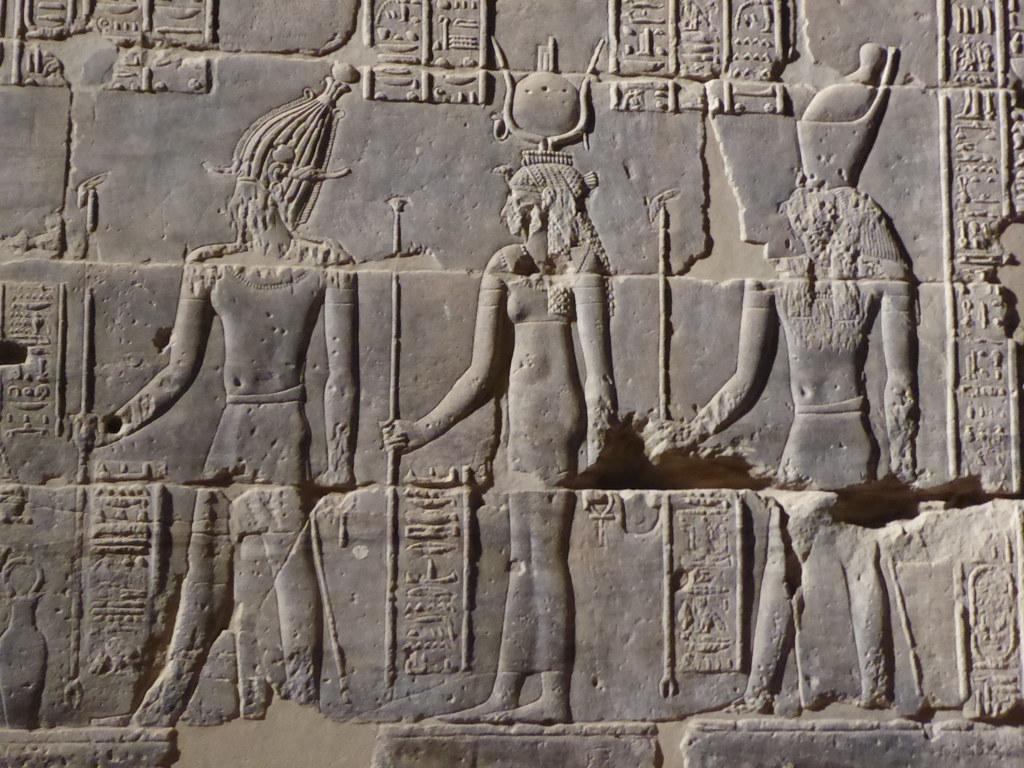 Osiris, Isis & Horus, Temple of Isis, Philae   Group of deit…   Flickr