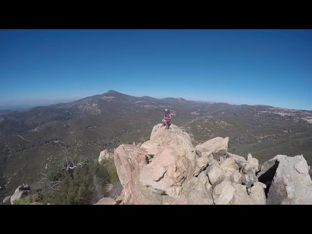158 GoPro panorama video from the Oakzanita Peak summit