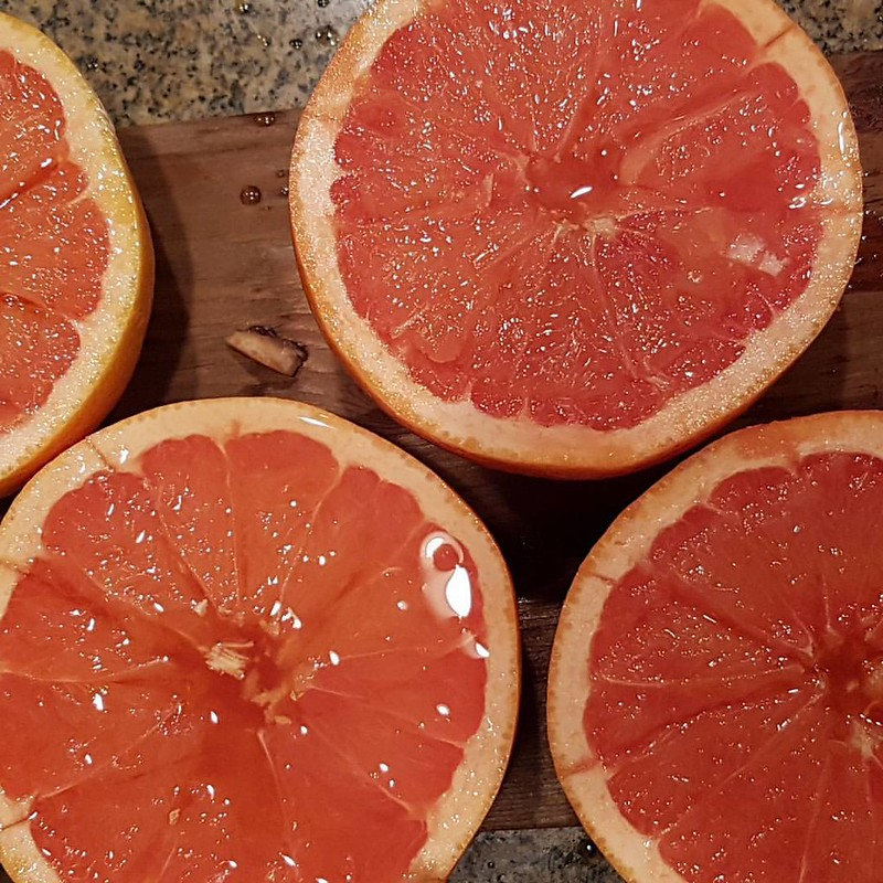 Ron planked grapefruit