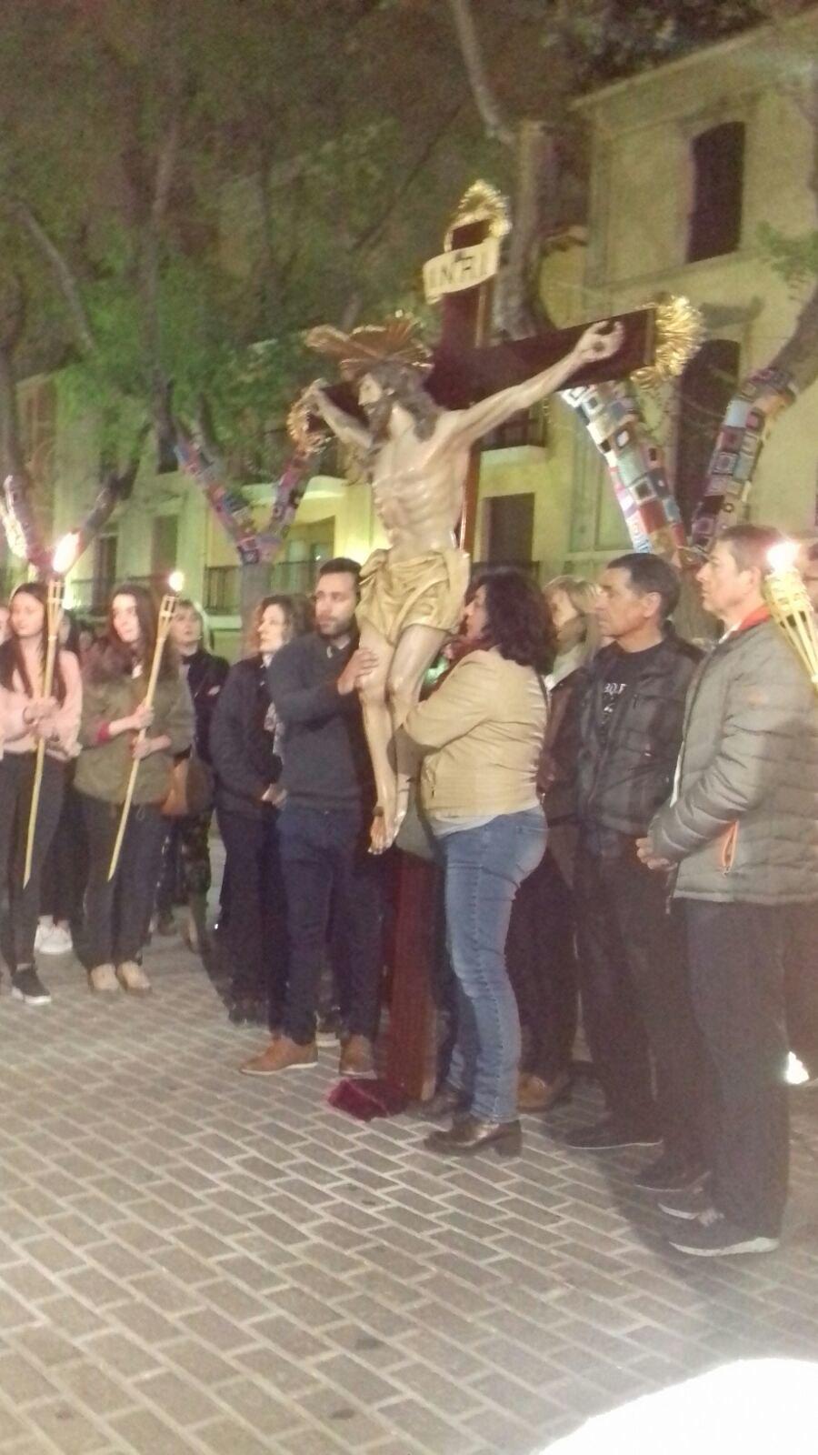 (2017-04-07) VIII Vía crucis nocturno -  Sergio Pérez (03)