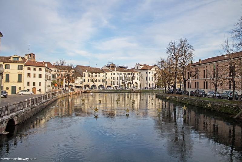 Ponte Dante dal Ponte dell'Università, Fiumi Treviso