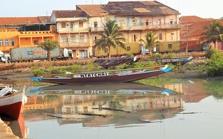 Reflection at the Bissau harbor
