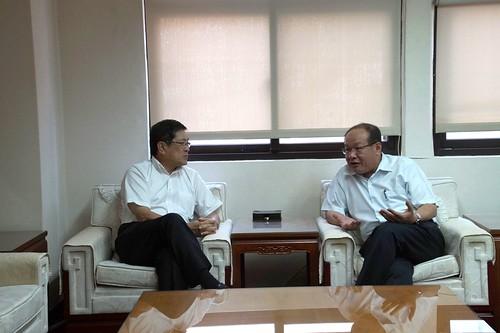 圖07.台灣中油公司新任代董事長楊偉甫蒞會拜訪1060905