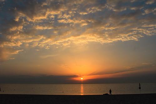 sunrise sun orange red colour summer beach water sky sand landscape photography sea