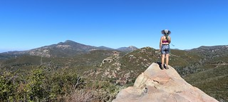080 Vicki on a granite outcrop looking north from the Upper Descanso Creek Trail toward Cuyamaca Peak | by _JFR_