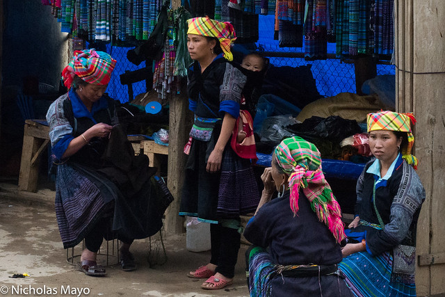 A Blue Hmong Clothes Store