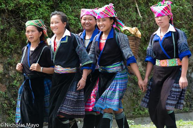 Five Blue Hmong Women