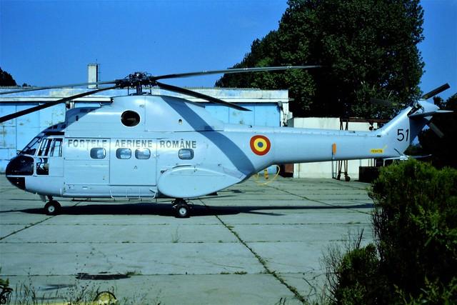 IAR-330 Puma 51 c/n 68 59-FLE Romanian-AF/ FAR. Tuzla, Romania, 03-05-1999.