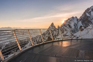 Sunset view from SkyWay Mont Blanc