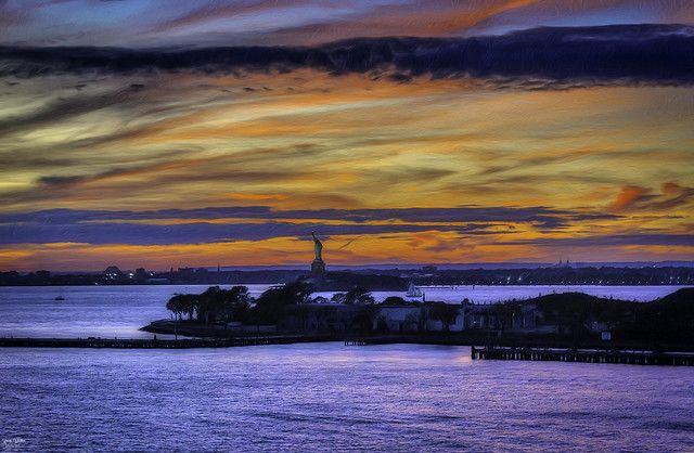 Sunset Over Liberty