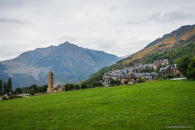 Vista de Sant Climent, Taüll y l'Aüt