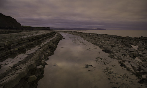 beach somerset england landscape seascape rocks rockpools