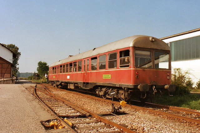 SWEG: VT 85 am 23.09.1985 in Münzesheim