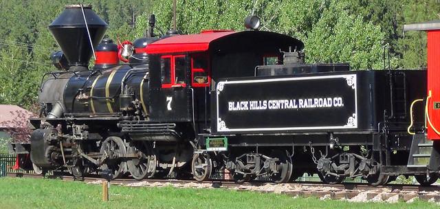 Black Hills Central Railroad Company # 7 steam locomotive (Baldwin 2-6-2) (Hill City, South Dakota, USA) 2
