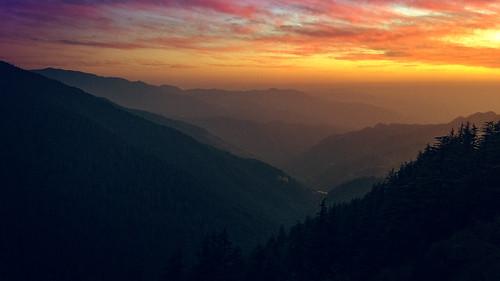 shimla hassanvalley sunset