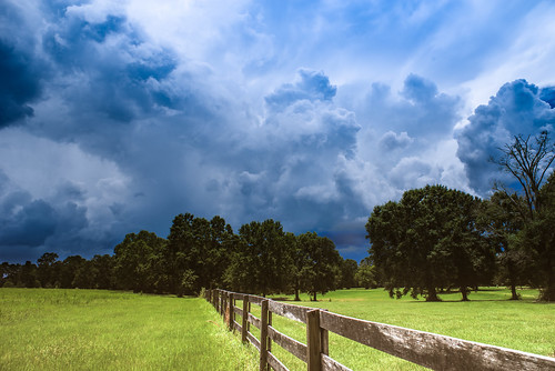 franklinton louisiana rural ruralscenery stormclouds