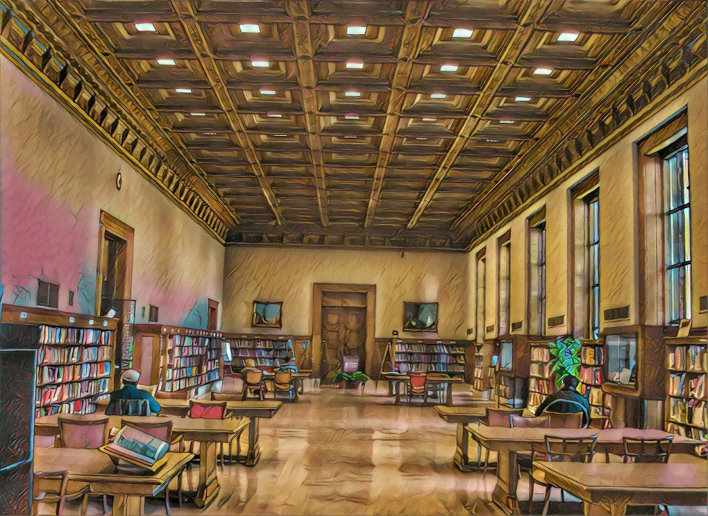 Detroit Michigan ~ Detroit Main Public Library ~ Reading R ...