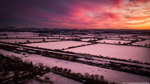 landscape nature sunset sky fields train drone bicester oxfordshire snow