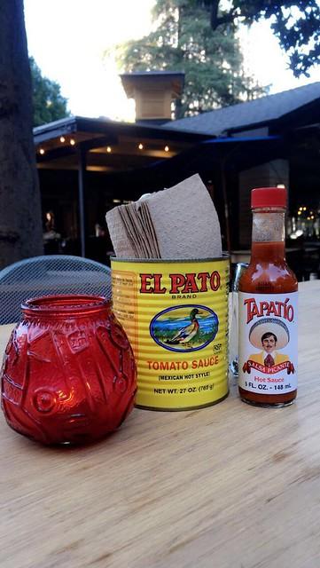 'La Cosecha', Mexican restaurant in the Cesar Chavez Plaza Parc, Sacramento (USA)