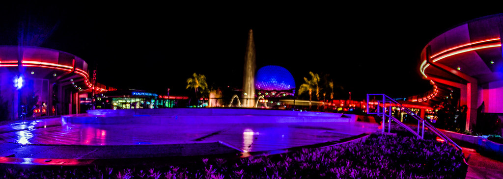 Epcot night neon