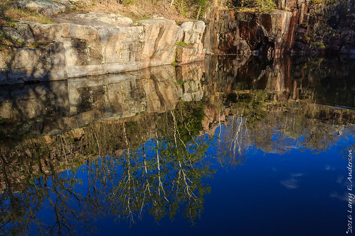 minnesota quarryparkscenicnaturalarea landscape reflection rocks seasons spring trees water