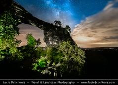 Czech Republic - Bohemian Switzerland National Park - Prav�ická brána - Prav�ice Sandstone Gate at Night