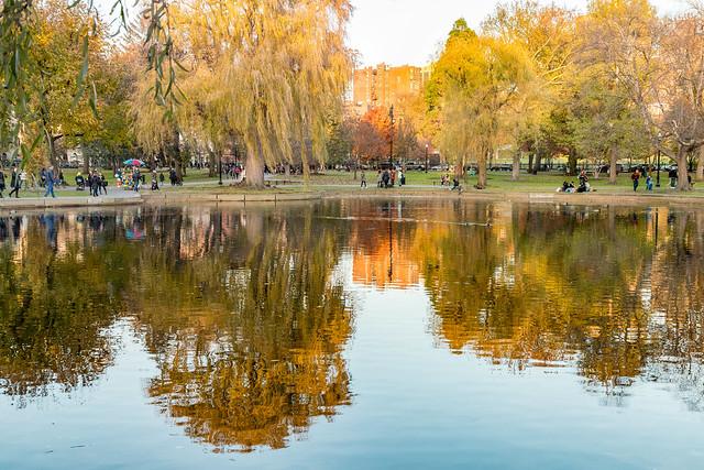 Boston Common Gardens at Dusk