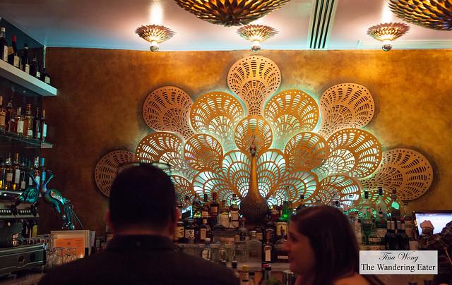 Peacock at the bar