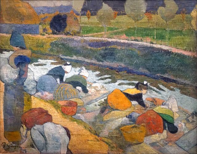 Lavandières au bord du canal de P. Gauguin (Grand Palais, Paris)