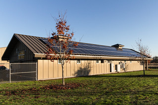 Solar Panels on Roof of North Utility Building at Marymoor Park, Washington State   by ShebleyCL