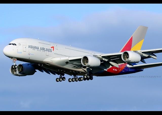 A380-841 | Asiana Airlines | HL7634 | FRA