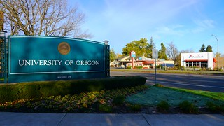 University of Oregon Sign and Franklin Boulevard