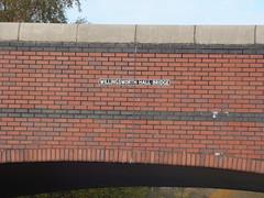 Walsall Canal - Wednesbury - Willingsworth Hall Bridge - sign