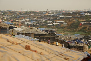View of the sprawling Kutupalong refugee camp near Cox's Bazar, Bangladesh. | by DFID - UK Department for International Development