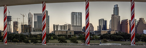 downtown longcenter austin panorama texas skyline holiday