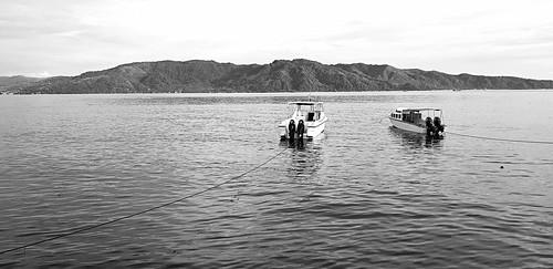 laha ambonbay ambon maluku indonesia beach boat blackandwhite