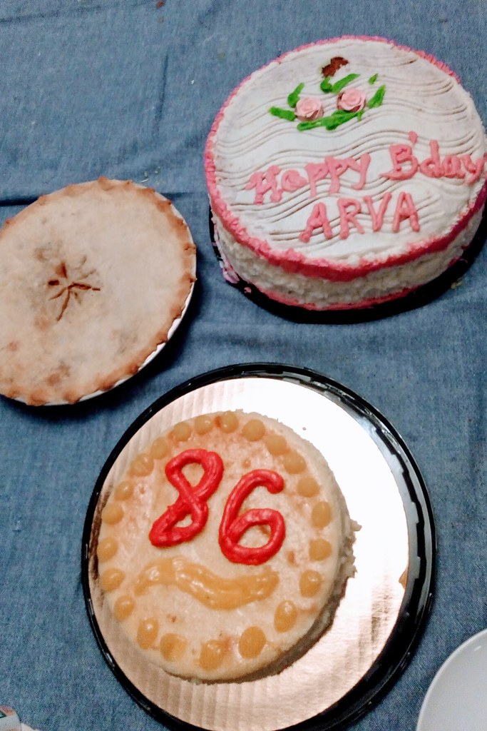 Surprising Birthday Treats A Cheesecake From Harris Teeter And A Pie Flickr Personalised Birthday Cards Veneteletsinfo
