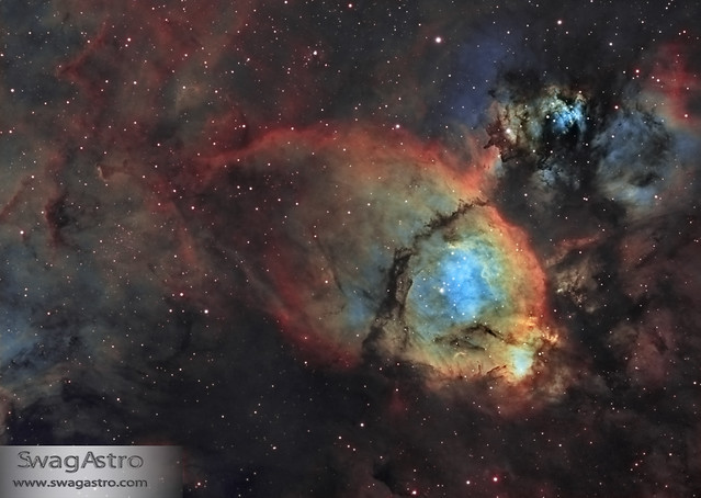 Fish Head nebula (IC1795) in narrowband