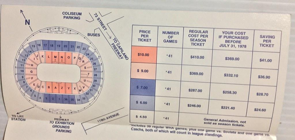 lower price with 0f71d 237a0 EDMONTON OILERS 1978-79 WHA HOCKEY CLUB SEASON TICKET APPL ...
