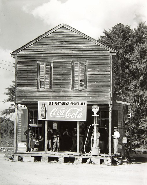 Crossroads General Store and Post Office, Sprott, Alabama, 1936