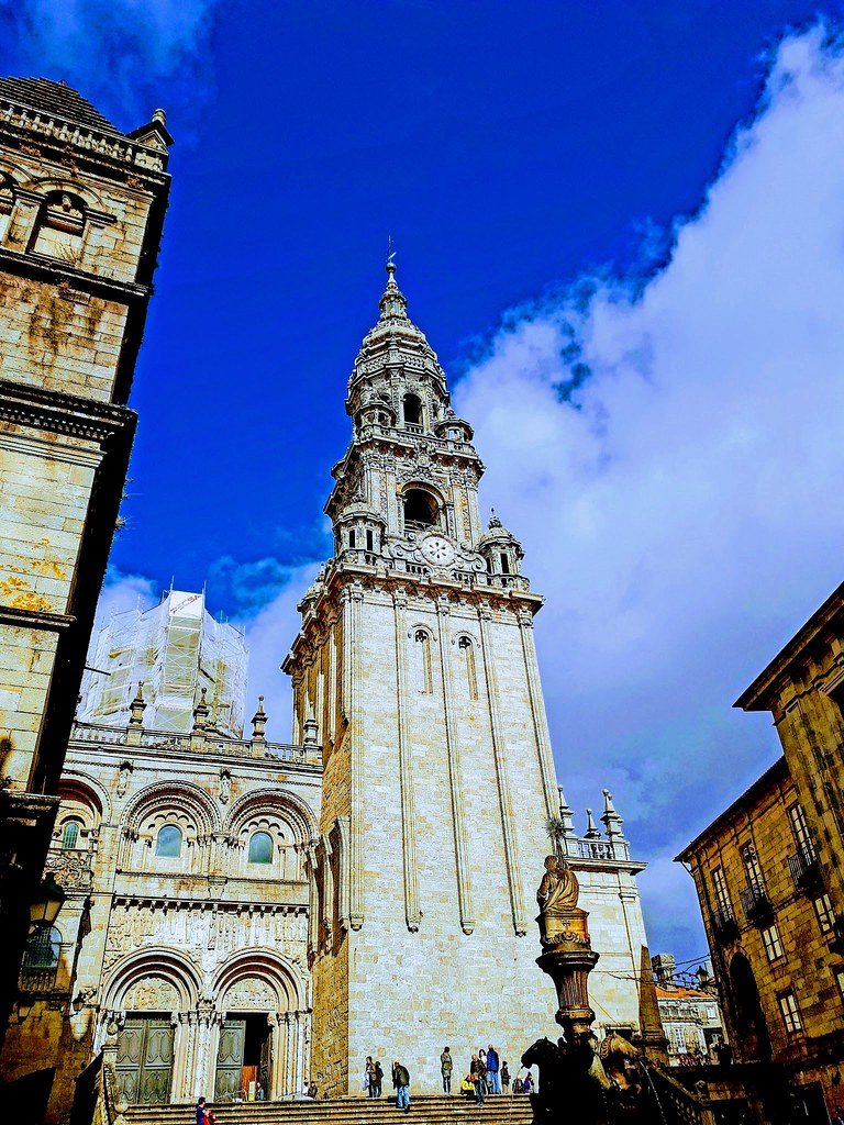 Santiago de Compostella, Galicia, Spain. (Mobile phone shot)